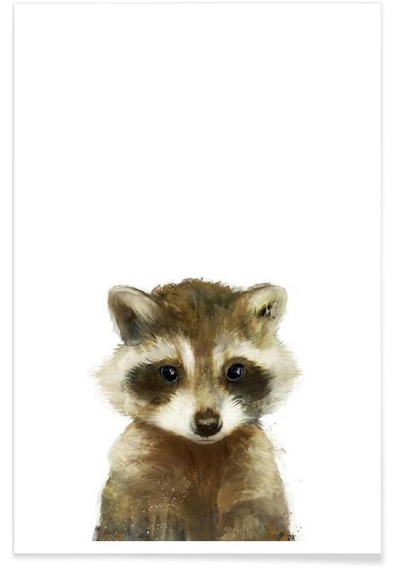 Wasbeertje illustratie poster