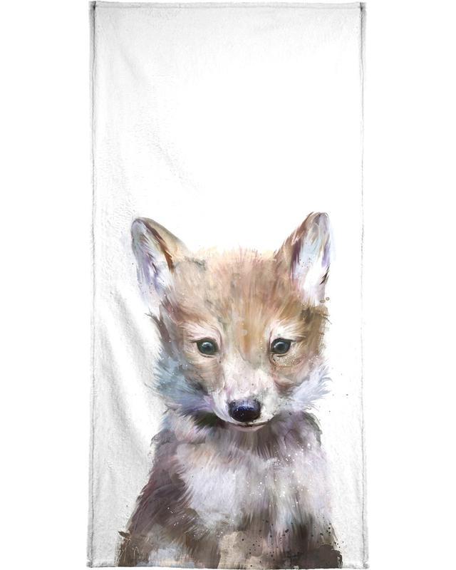 Little Wolf Bath Towel