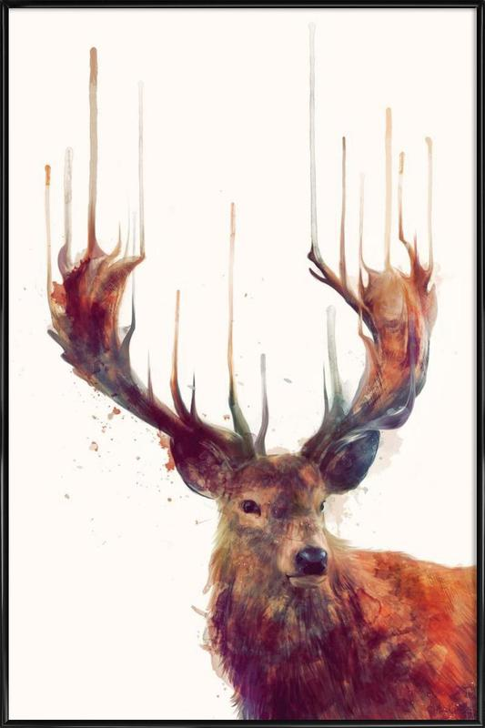 Red Deer ingelijste poster