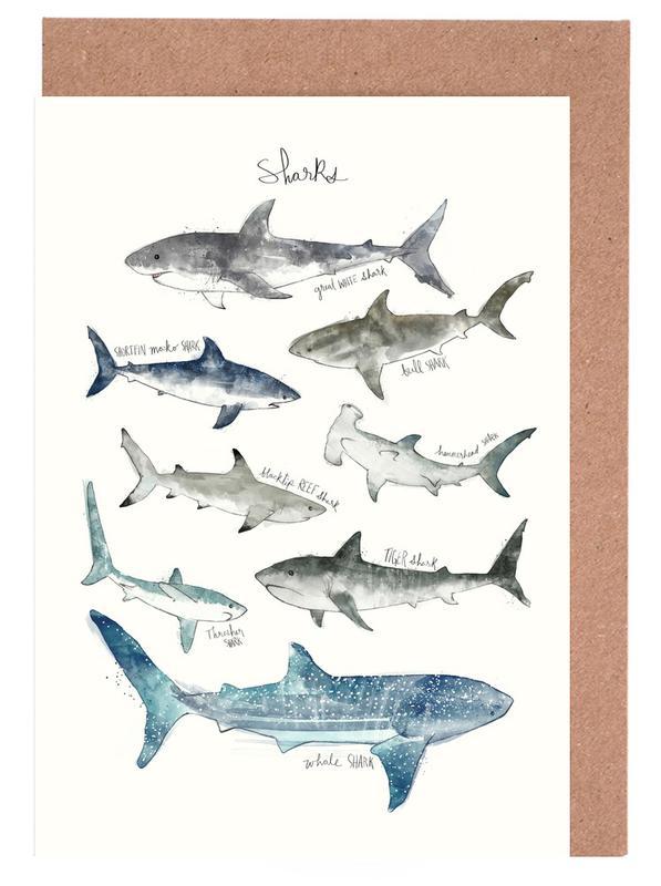Sharks Greeting Card Set
