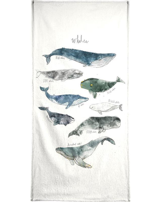 Whales -Handtuch