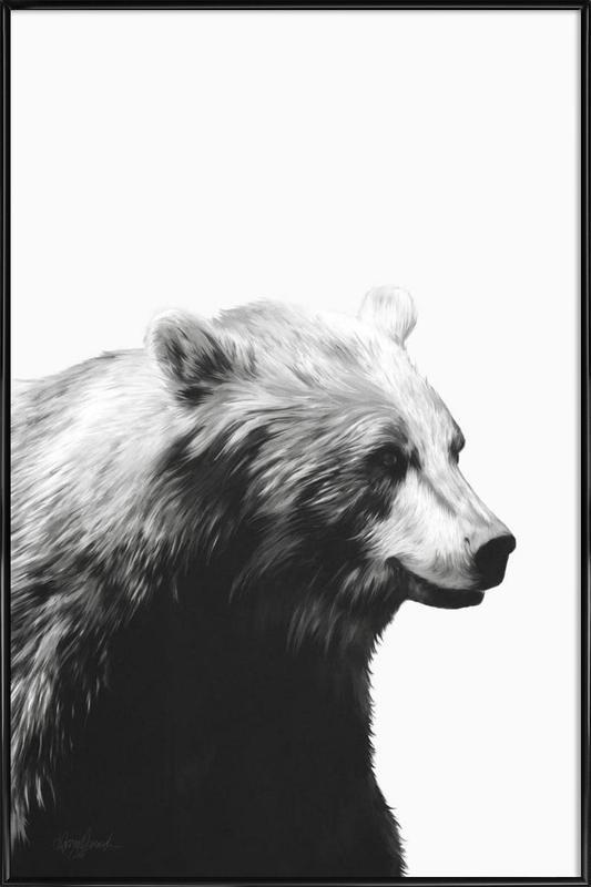 Calm Black and White -Bild mit Kunststoffrahmen