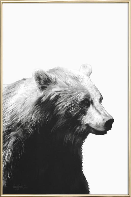 Calm Black and White -Poster im Alurahmen