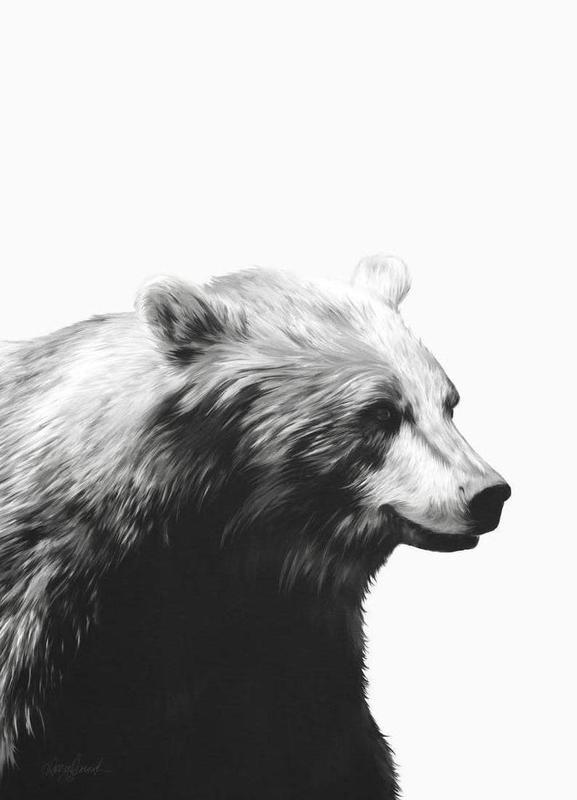 Calm Black and White -Leinwandbild