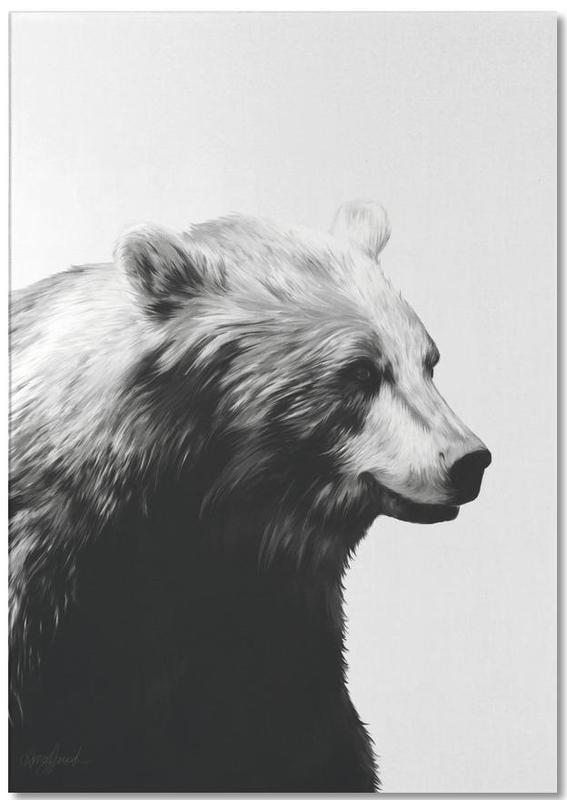 Calm Black and White -Notizblock