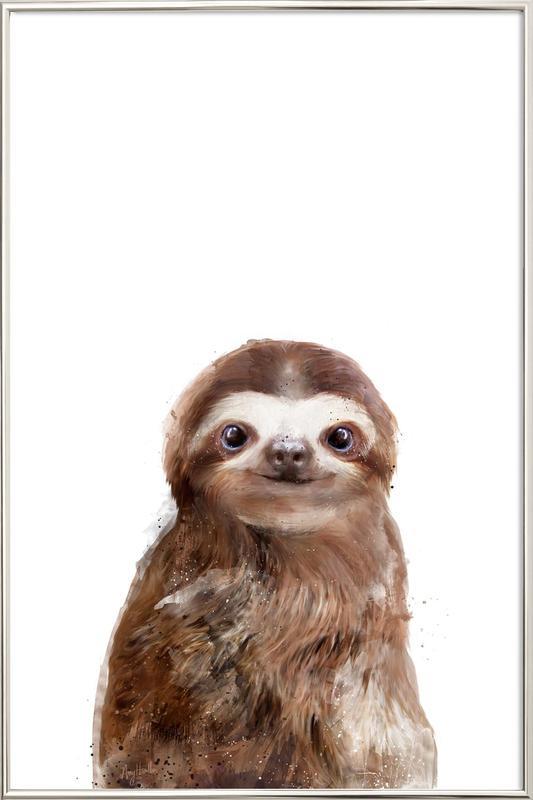 Little Sloth Poster in Aluminium Frame
