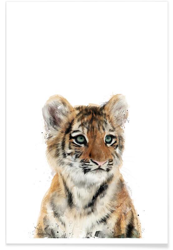 Illustration de petit tigre affiche