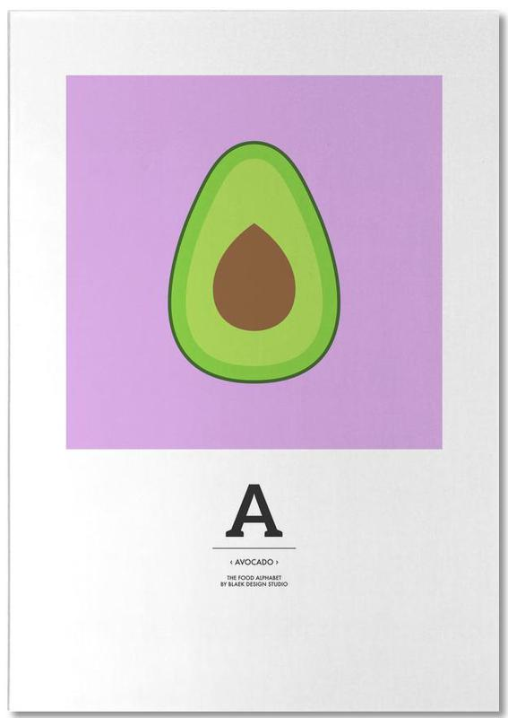 """The Food Alphabet"" - A like Avocado -Notizblock"