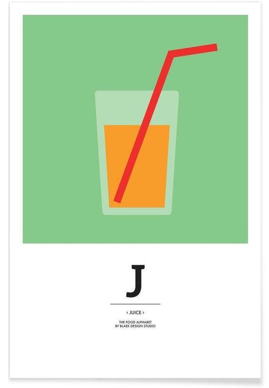 """The Food Alphabet"" - J like Juice Poster"