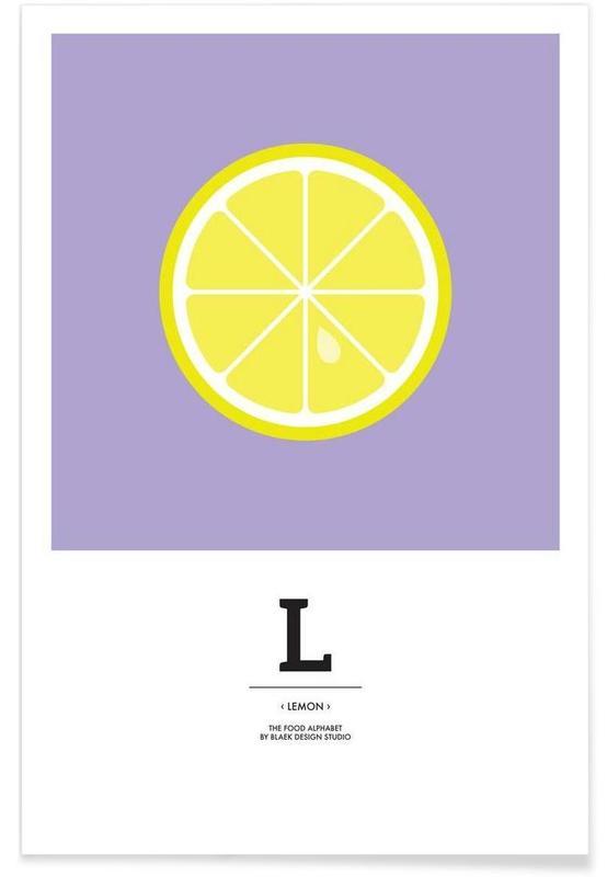 """The Food Alphabet"" - L like Lemon Poster"