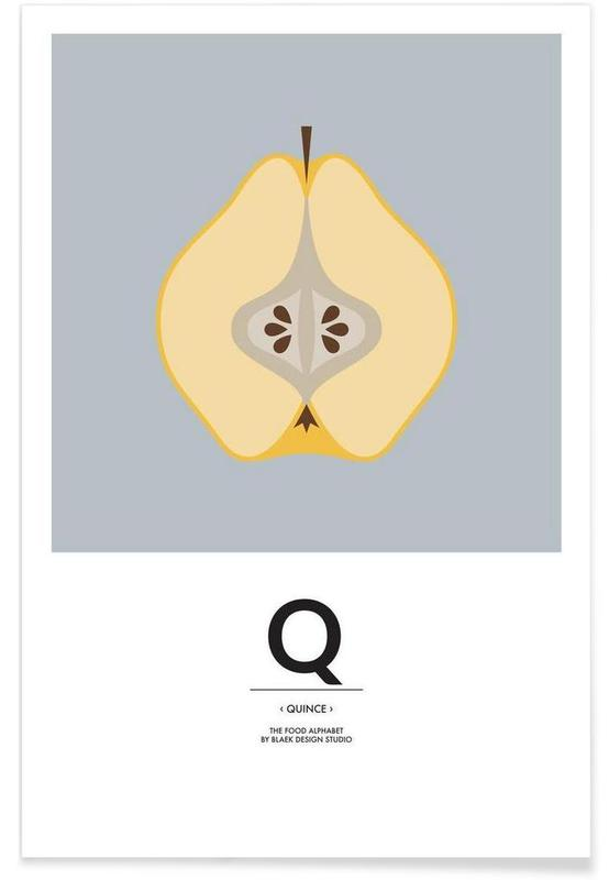 """The Food Alphabet"" - Q like Quince -Poster"