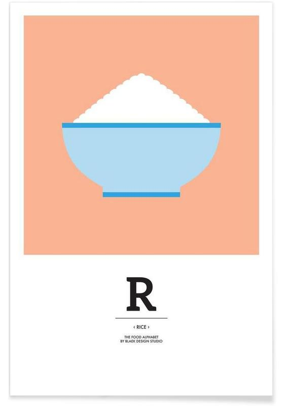 """""""The Food Alphabet"""" - R like Rice Poster"""