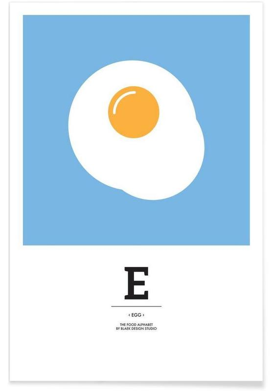 """The Food Alphabet"" - E like Egg Poster"