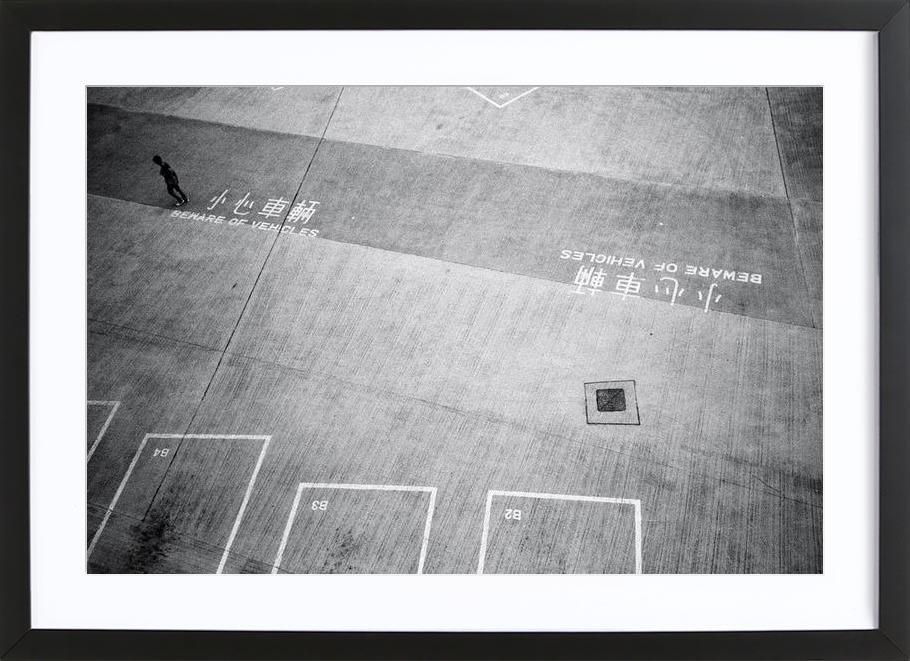 HK Parking 1 Framed Print