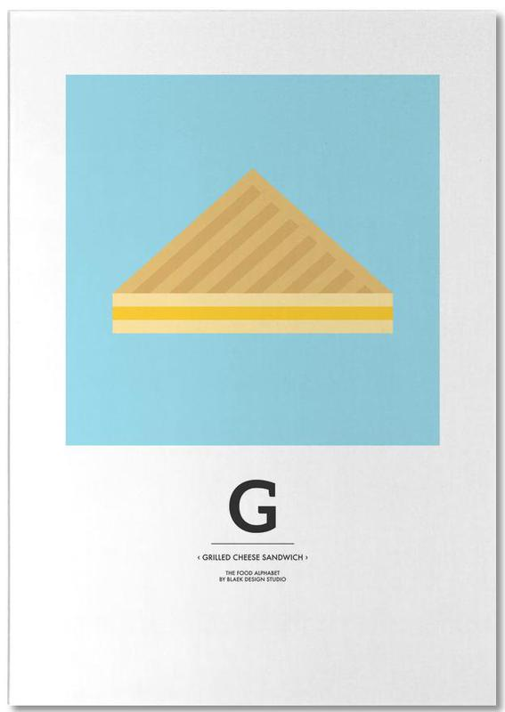 """""""The Food Alphabet´´ G like Grilled Cheese Sand..."""