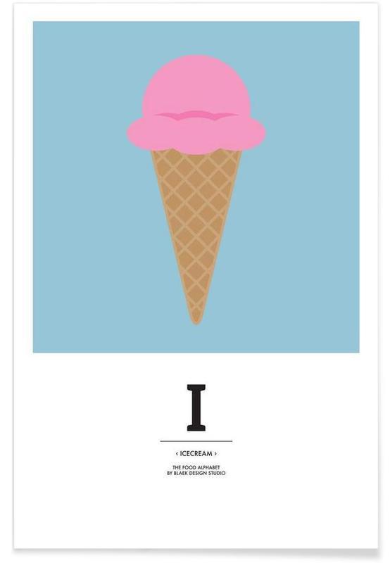 """The Food Alphabet"" - I like Ice Cream affiche"
