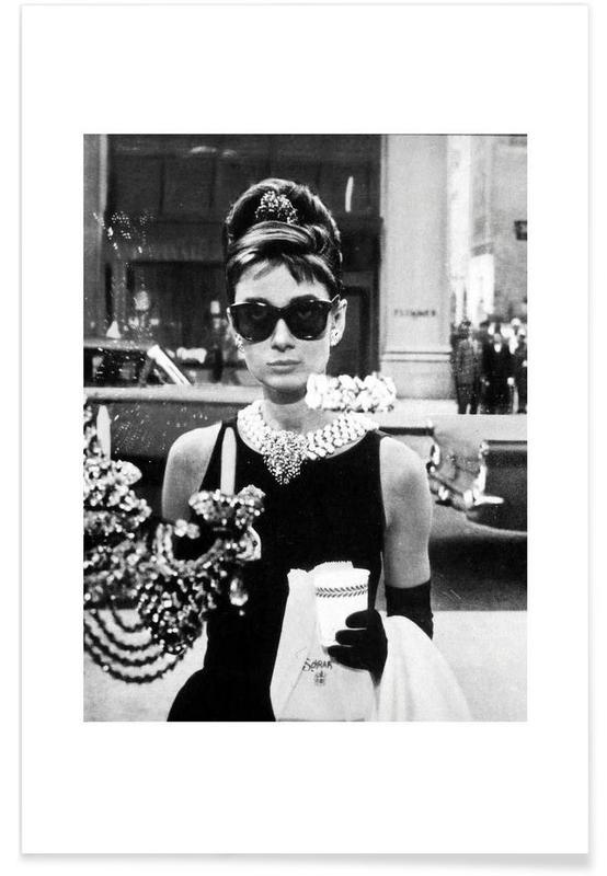 Audrey Hepburn in Breakfast at Tiffanys, 1961 Photograph Poster