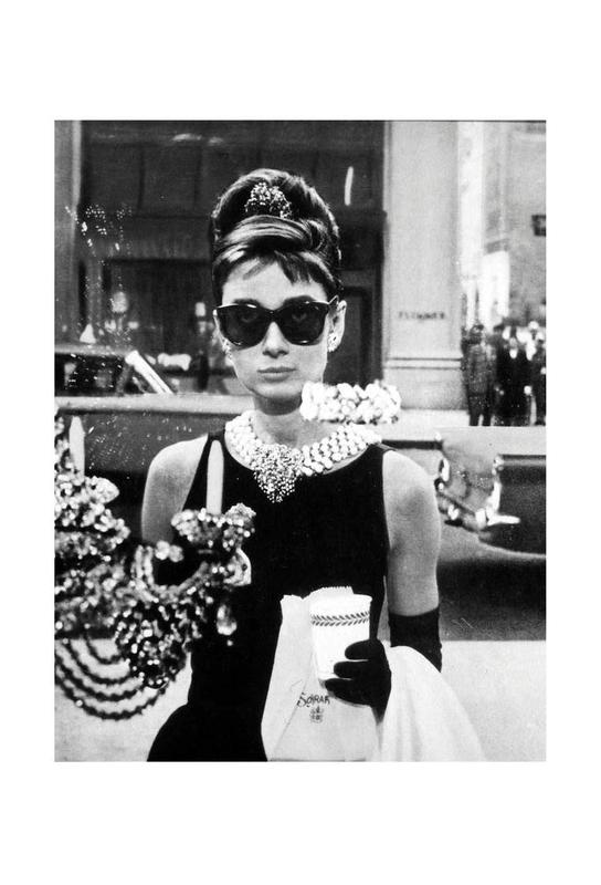 Audrey Hepburn in Breakfast at Tiffany's, 1961 -Alubild