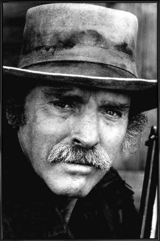 Actor Burt Lancaster, 1972 Framed Poster