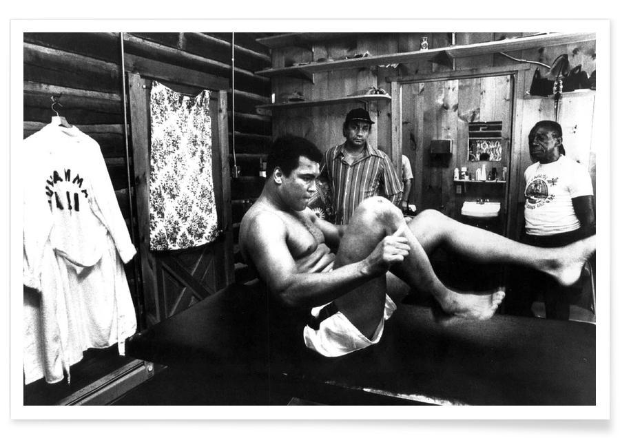 Muhammad Ali Exercising Photograph Poster