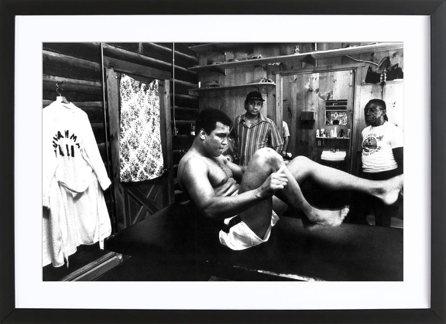Muhammad Ali Exercising ingelijste print