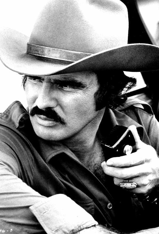 Burt Reynolds in 'Smokey and the Bandit' -Acrylglasbild