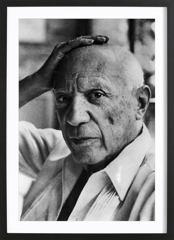 Pablo Picasso -Bild mit Holzrahmen