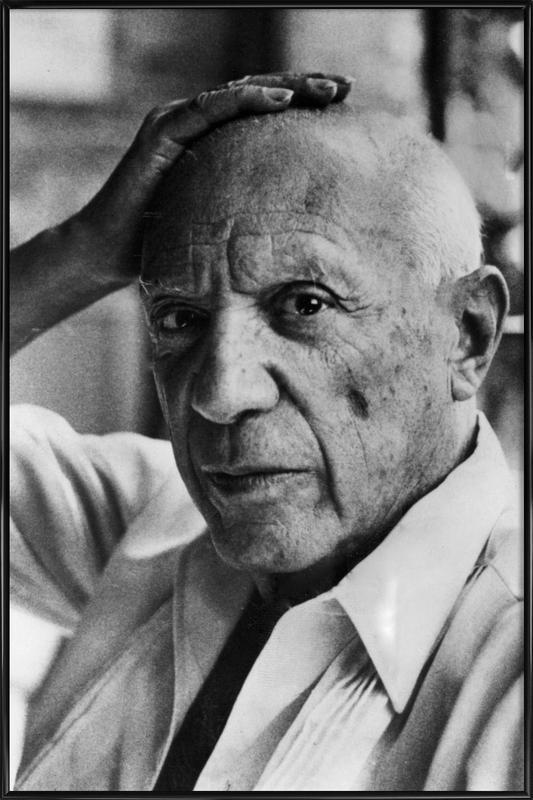 Pablo Picasso -Bild mit Kunststoffrahmen