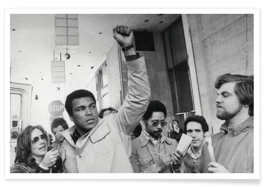 Muhammad Ali raises his Fist Poster