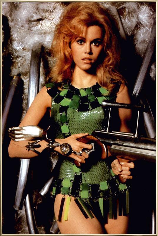 Jane Fonda as 'Barbarella' Poster in Aluminium Frame