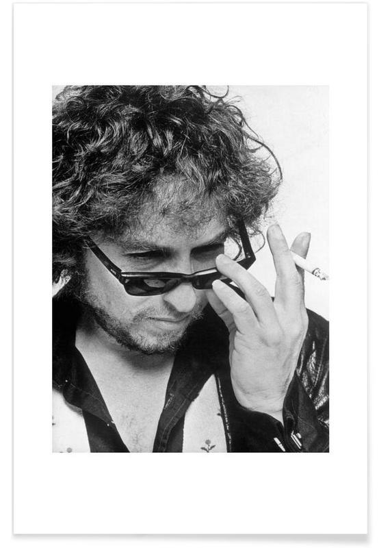 Vintage foto van Bob Dylan poster