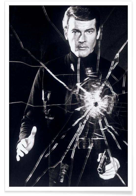 Roger Moore in Leben und sterben lassen-Fotografie -Poster