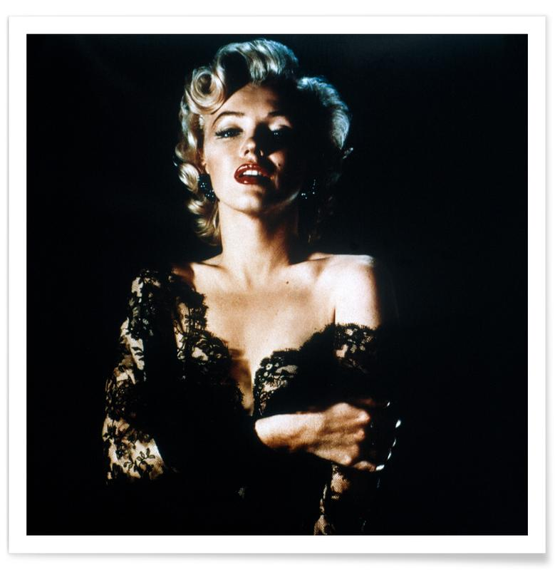 Marilyn Monroe wearing Black Lace -Poster