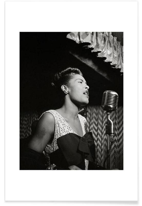 Billie Holiday, New York 1946 Vintage Photograph Poster