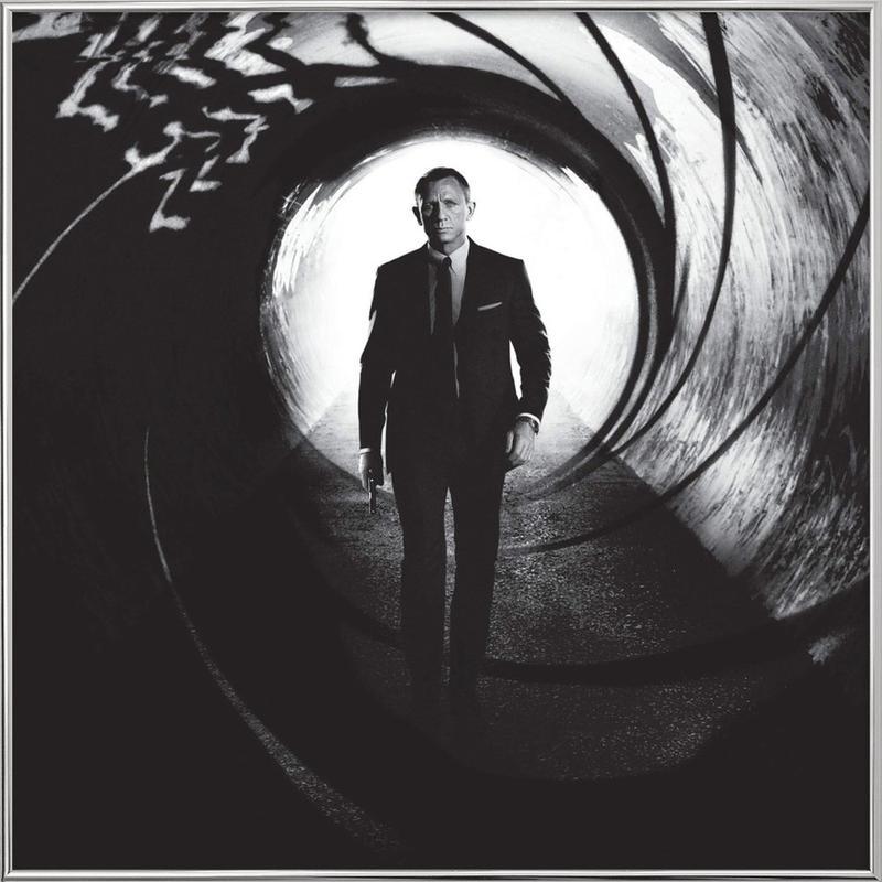 Daniel Craig in 'Skyfall' Poster in Aluminium Frame
