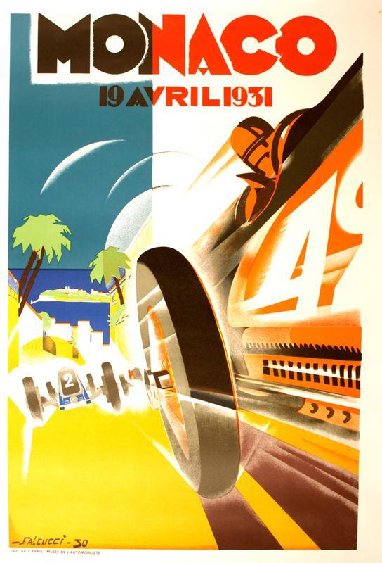 Vintage Monaco 19 April 1931 Aluminium Print