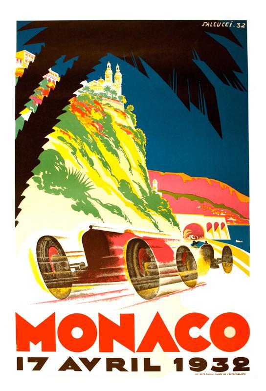 Vintage Monaco 17 April 1932 Aluminium Print