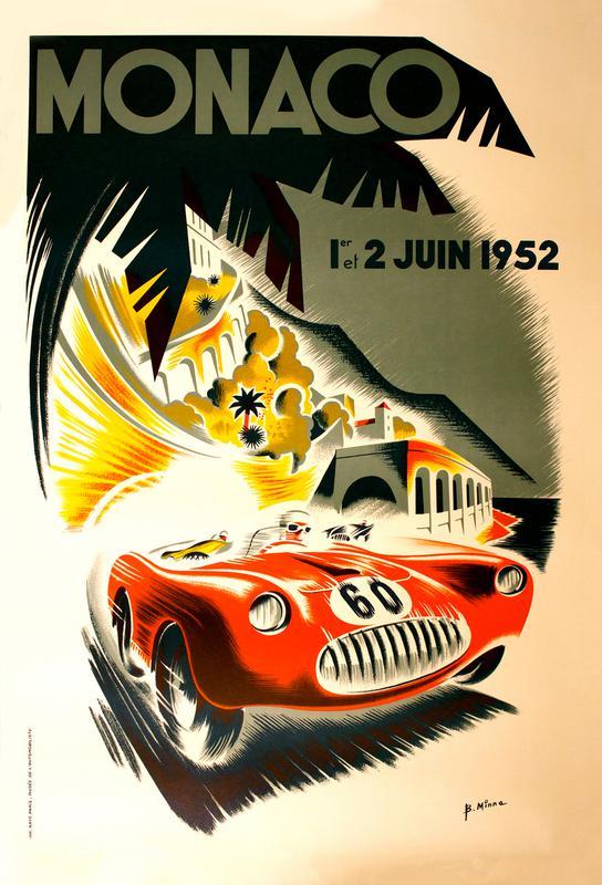 Vintage Monaco 1 June 1952 Aluminium Print
