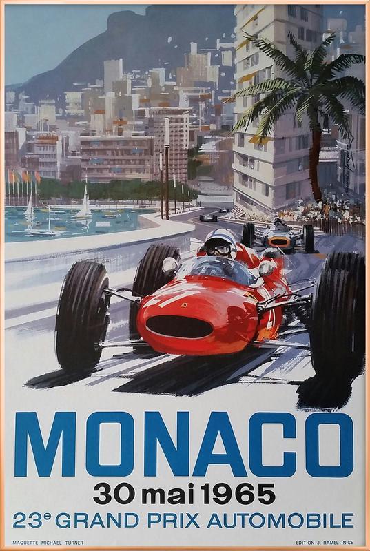 Monaco 1965 Poster in Aluminium Frame