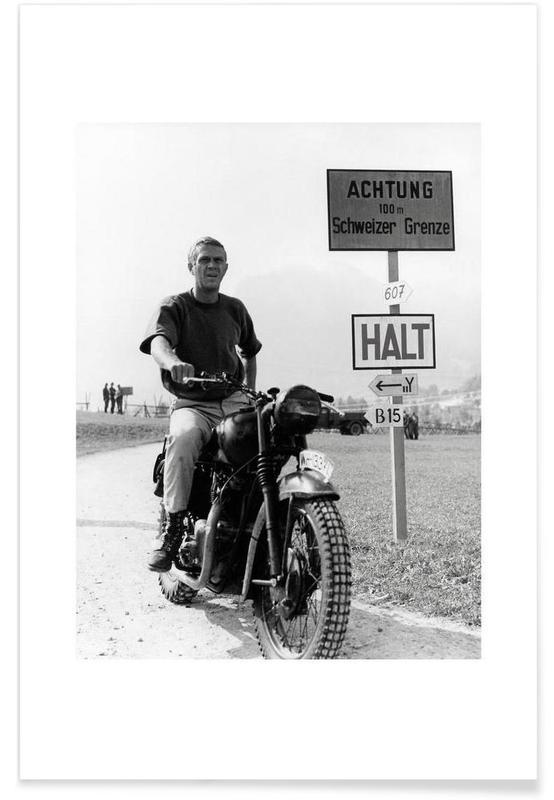 Foto van Steve McQueen The Great Escape 1963 poster