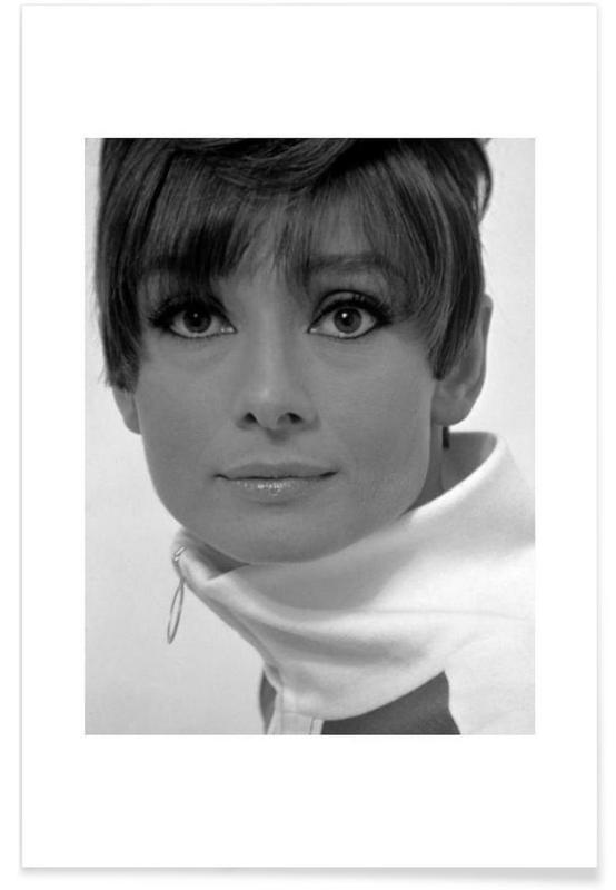 Vintage foto van Audrey Hepburn, 1966 poster