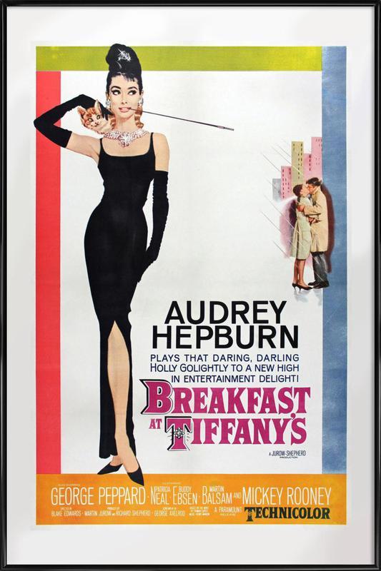 'Breakfast at Tiffany's' Retro Movie Poster Framed Poster