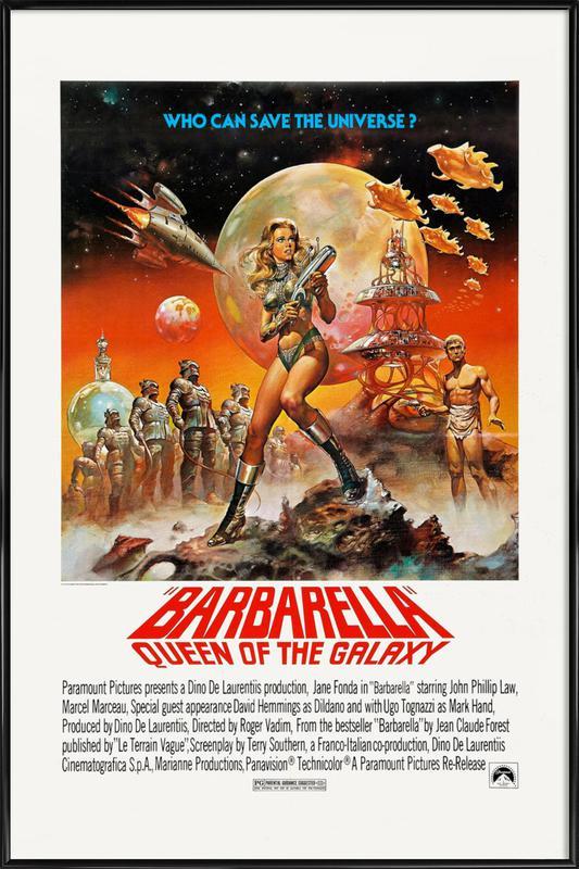 'Barbarella' Retro Movie Poster Framed Poster