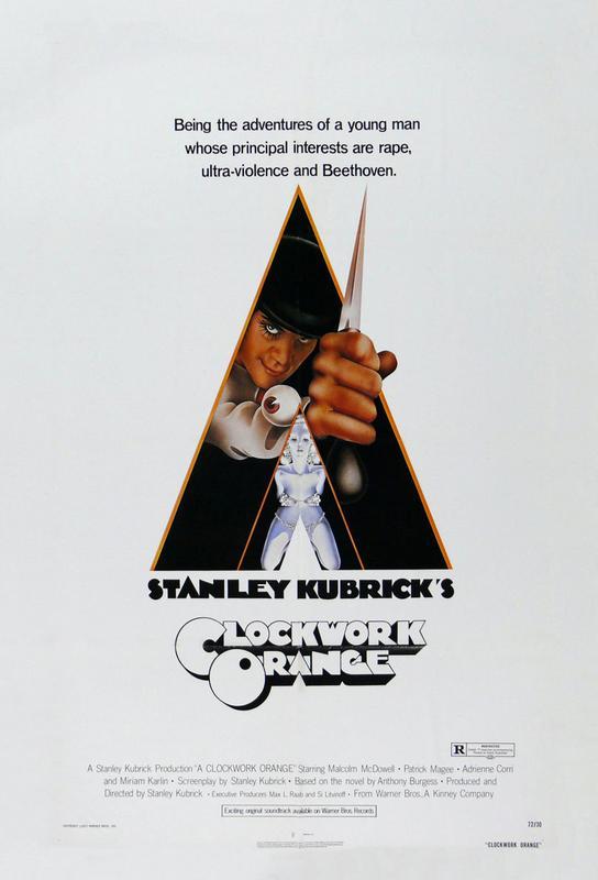 'A Clockwork Orange' Retro Movie Poster Aluminium Print
