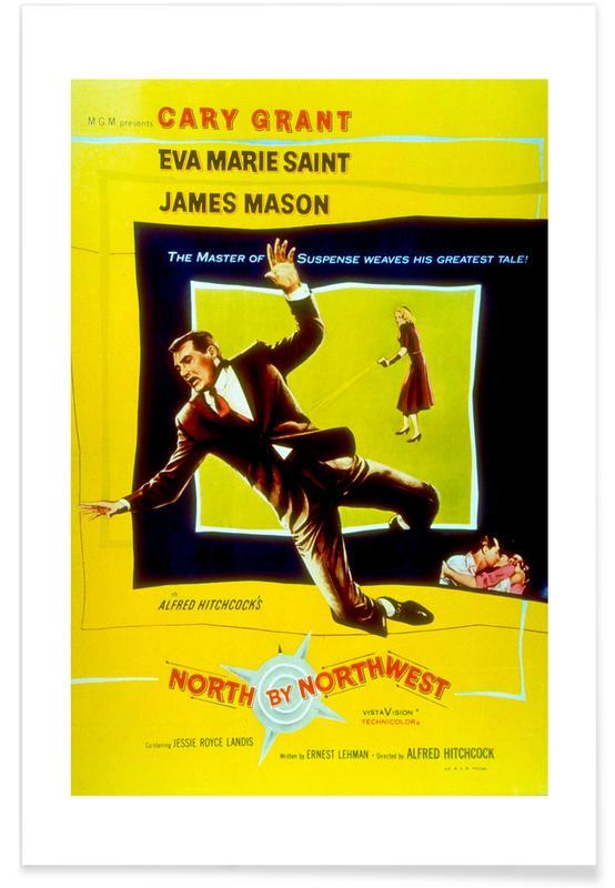 'North by Northwest' - retro film poster
