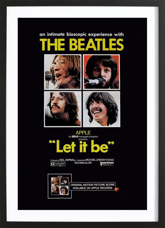 'Let It Be' Retro Movie Poster -Bild mit Holzrahmen