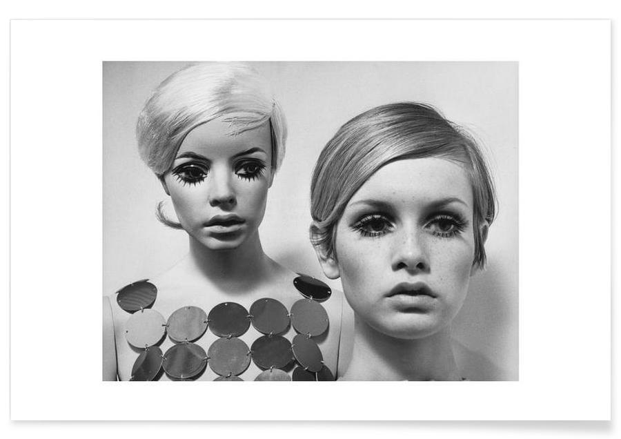 Twiggy and Mannequin, 1966 Poster