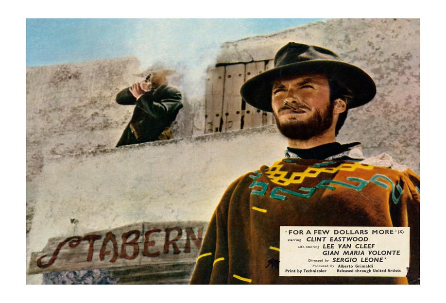 'For a Few Dollars More' Retro Movie Poster Aluminium Print