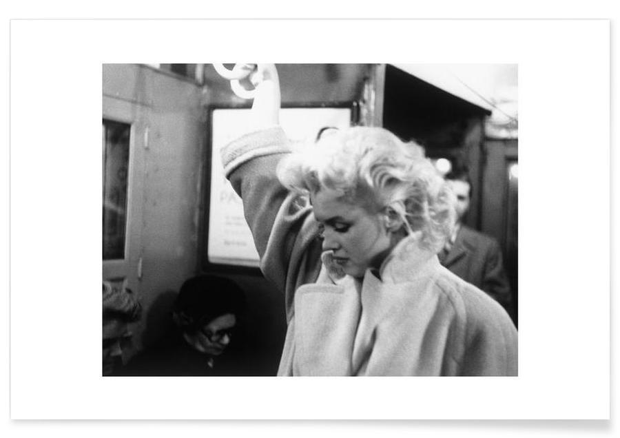 Marilyn Monroe in der U-Bahn-Fotografie -Poster