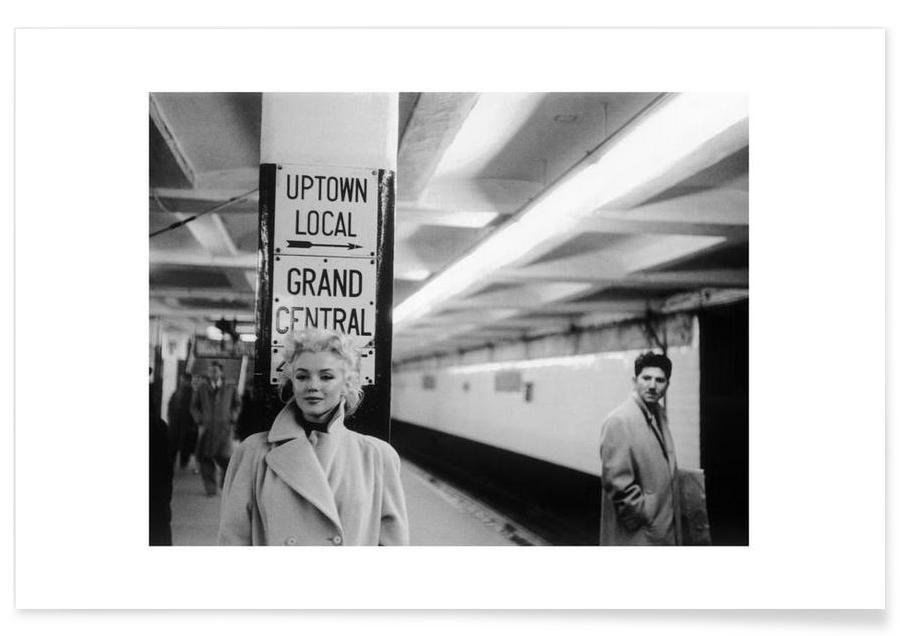 Marilyn Monroe at Grand Central Station Photograph Poster